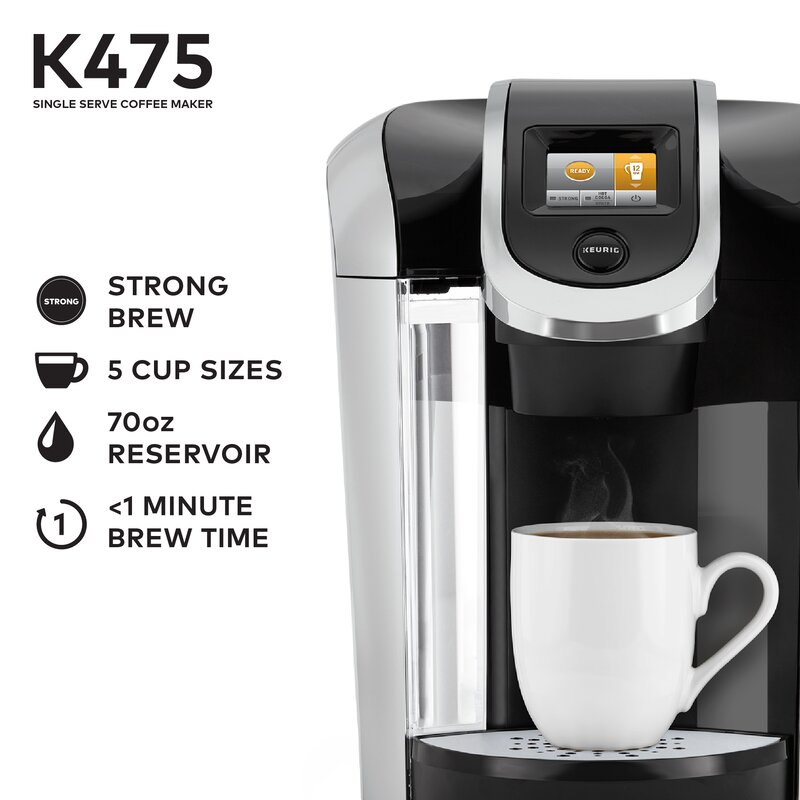 K475 Single Serve K Cup Pod Coffee Maker Reviews Joss Main