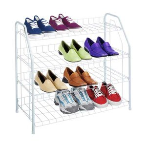 4tier 12 pair shoe rack