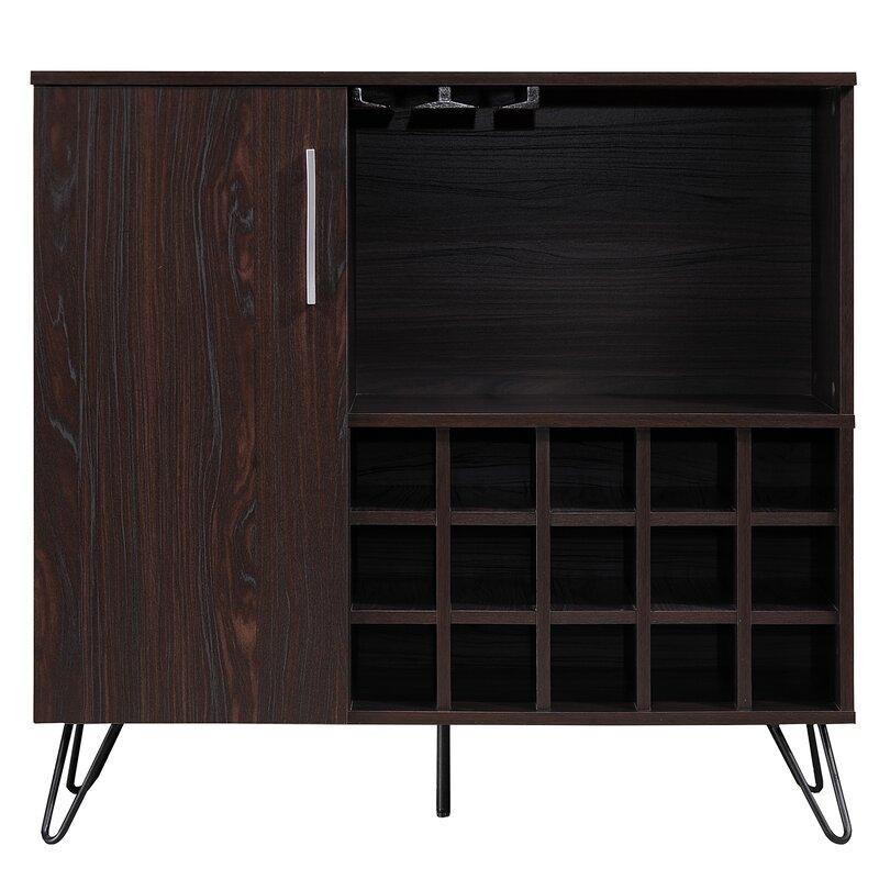 Buena Vista Mid Century Wine And Bar Cabinet