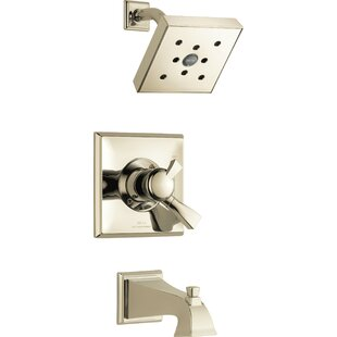 Dryden Pressure Balanced Tub And Shower Trim With Monitor By Delta