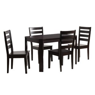 Goodman 5 Piece Solid Wood Dining Set (Set of 5)