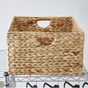 Wayfair Basics Woven Hyacinth Storage Basket Set (Set Of 2)