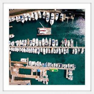 Merveilleux U0027All Boats Dockedu0027 Framed Print