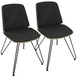 Santiago Mid-Century Modern Upholstered Dining Chair (Set of 2) by Corrigan Studio