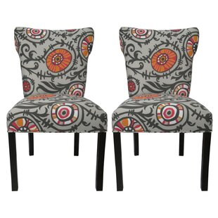 Willard Cotton Wingback Cotton Side Chair (Set Of 2)