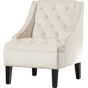 Darien Tufted Swoop Side Chair by Three Posts