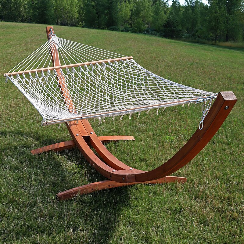 Medium image of double hammock with stand
