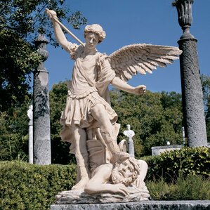 St. Michael The Archangel Garden Angel Statue