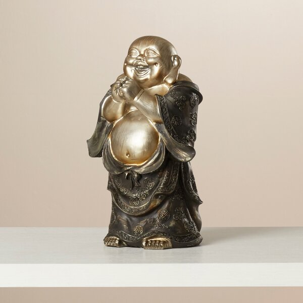 World Menagerie Polyresin Laughing Buddha Figurine