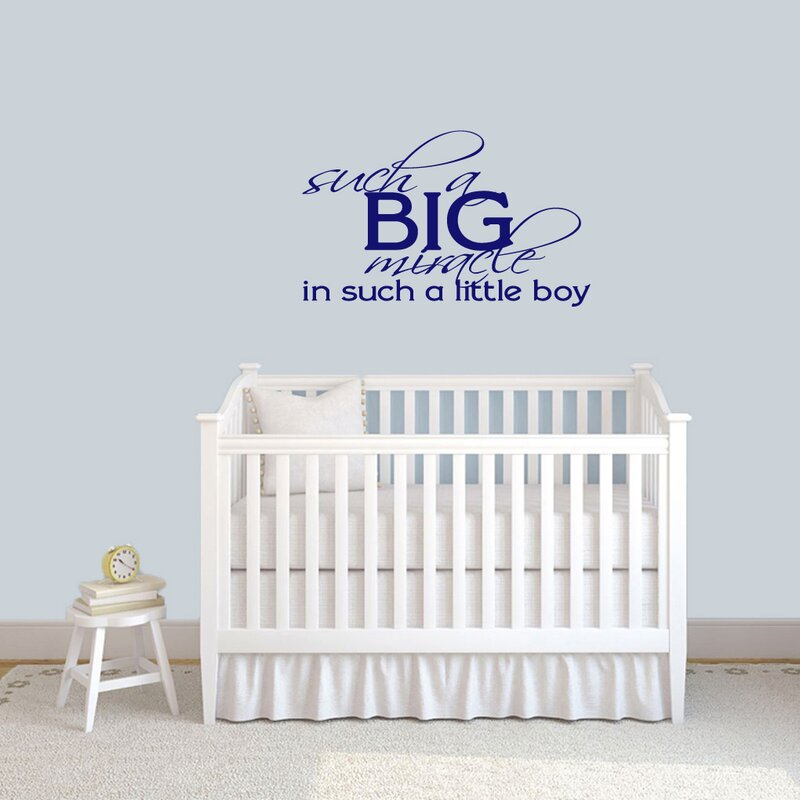 Sweetumswalldecals Such A Big Miracle Such A Little Boy Wall Decal