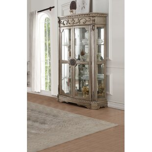 Leanos Lighted Curio Cabinet