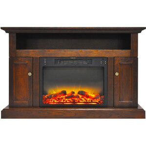 broncho modern electric fireplace tv stand