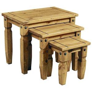 3-tlg. Satztisch-Set Rustic Corona von Heartlands Furniture