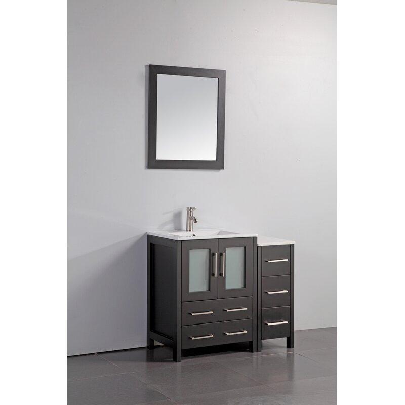 Wade Logan Karson 36 Bathroom Vanity Set With Mirror Wayfair