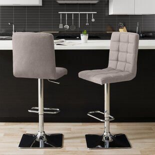 Dostie Adjustable Height Swivel Bar Stool (Set of 2)