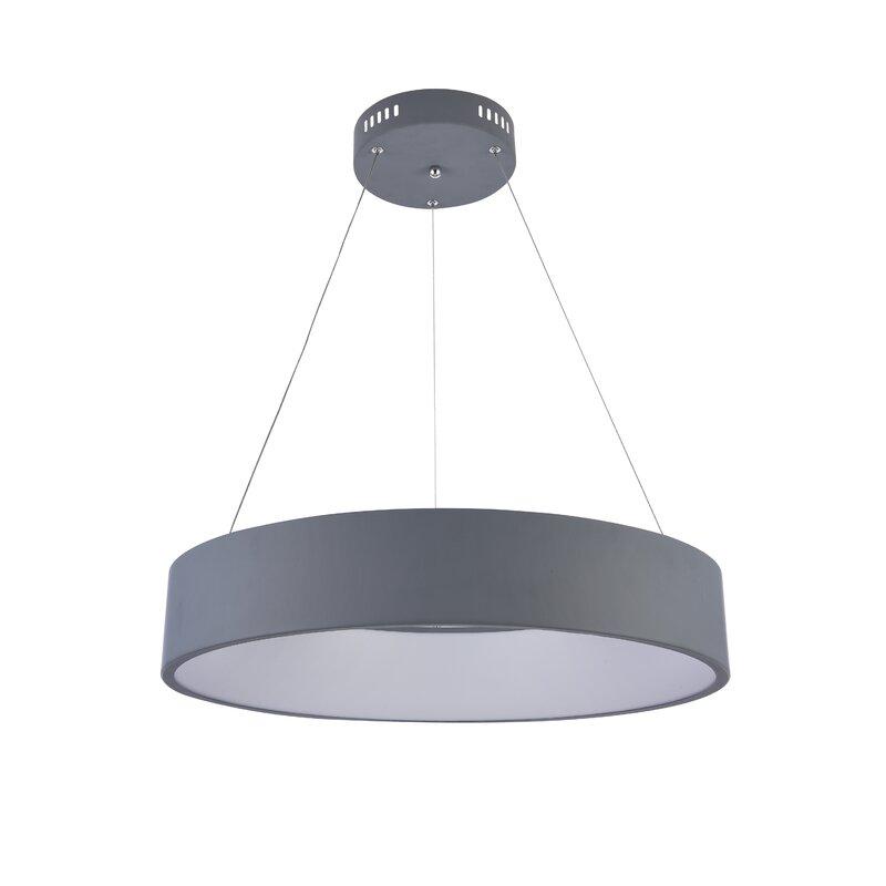 "Orren Ellis Bergner  LED  Pendant  Size: 4.3"" H x 23.6"" W x 23.6"" D"
