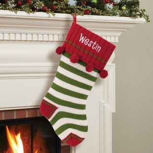 Red Personalized Christmas Stockings Tree Skirts You Ll Love In