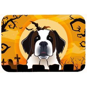 Halloween Saint Bernard Kitchen/Bath Mat