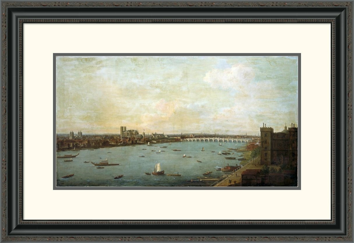 Global gallery 39the city of westminster from lambeth39 by for Best brand of paint for kitchen cabinets with iron man wall art