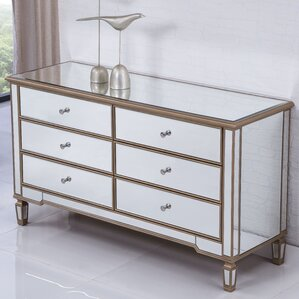 Emerita 6 Drawer Double Dresser by Rosdorf Park