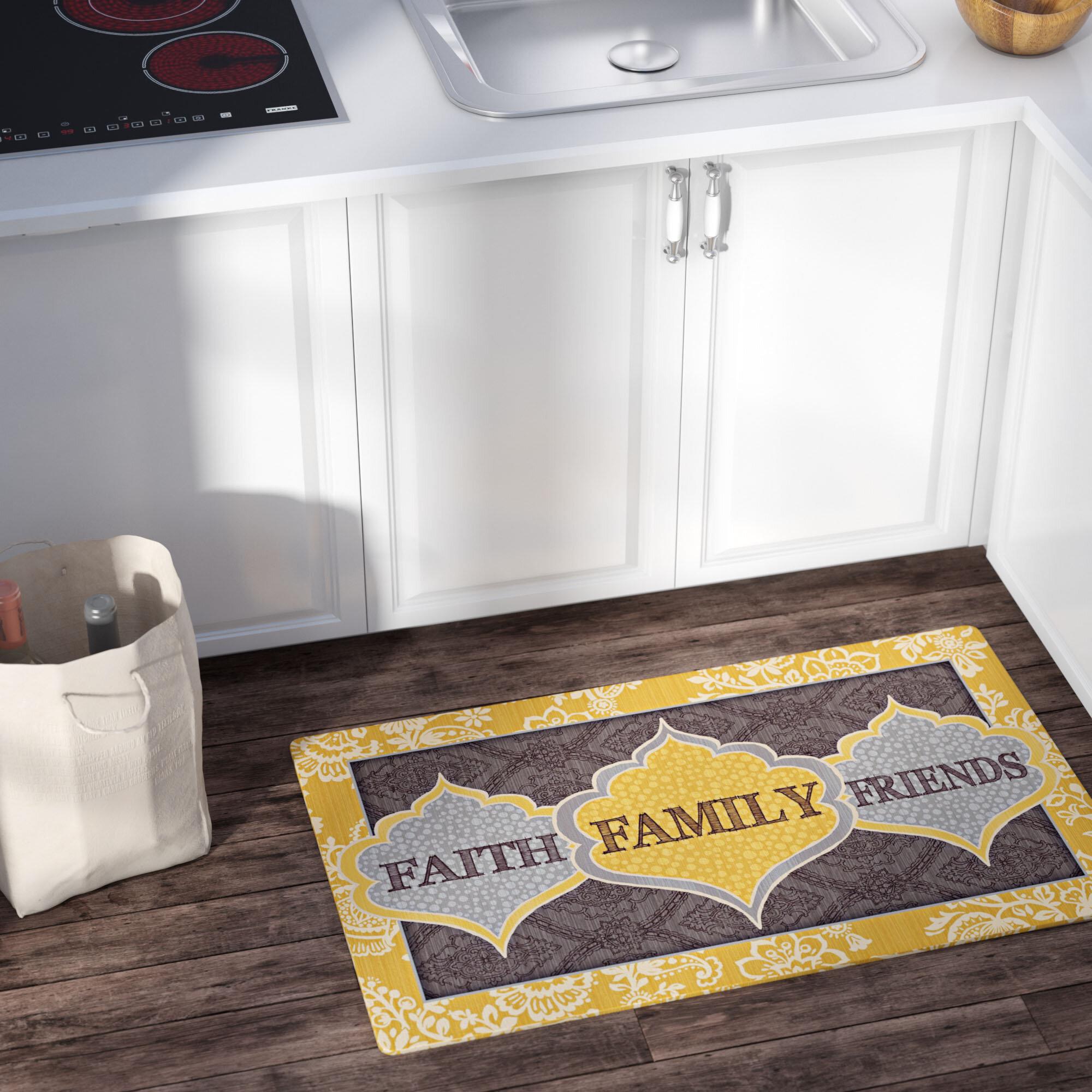 Charlton Home Treadway Family Comfort Kitchen Mat U0026 Reviews | Wayfair