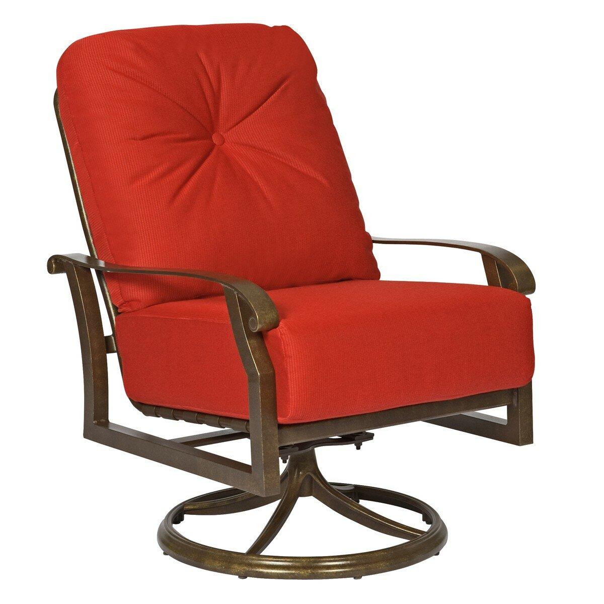 Woodard Cortland Swivel Rocking Patio Chair With Cushions | Wayfair