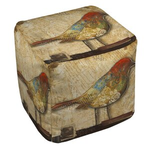 Square Bird Ottoman by East Urban Home