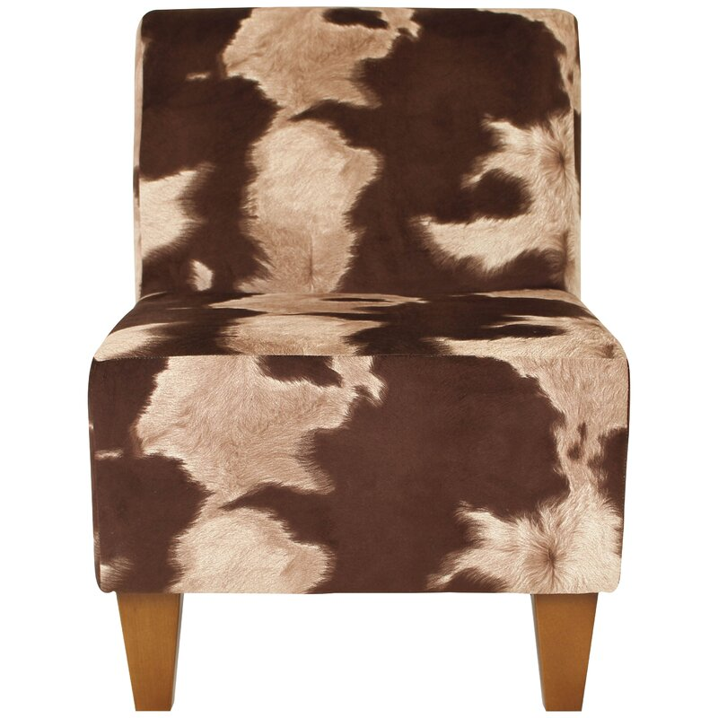 Ronda Animal Print Armless Slipper Chair
