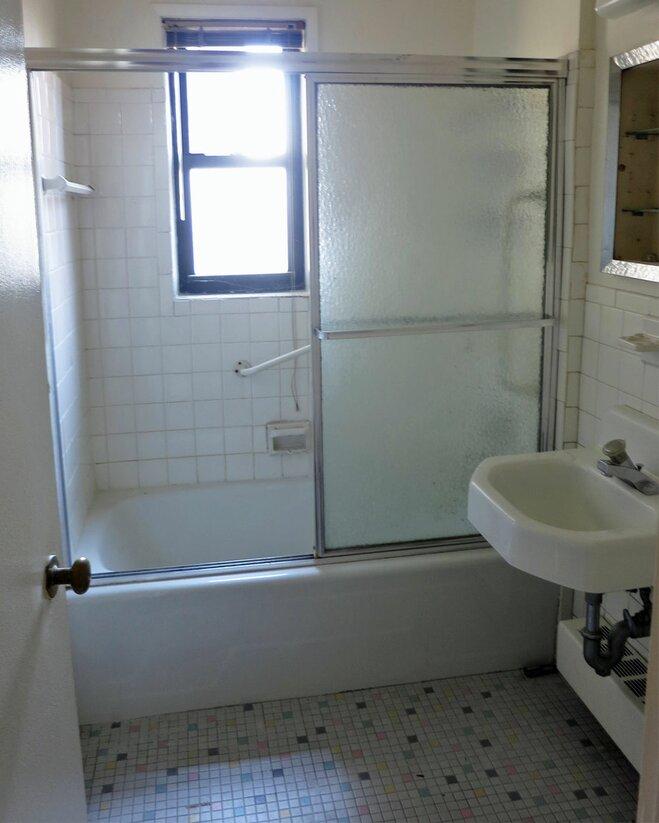 Before After A Sleek 60s Bath Redux Wayfair
