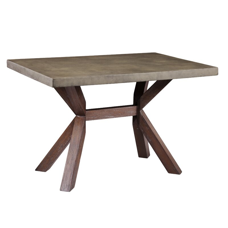 Astle Indoor Outdoor Concrete Dining Table