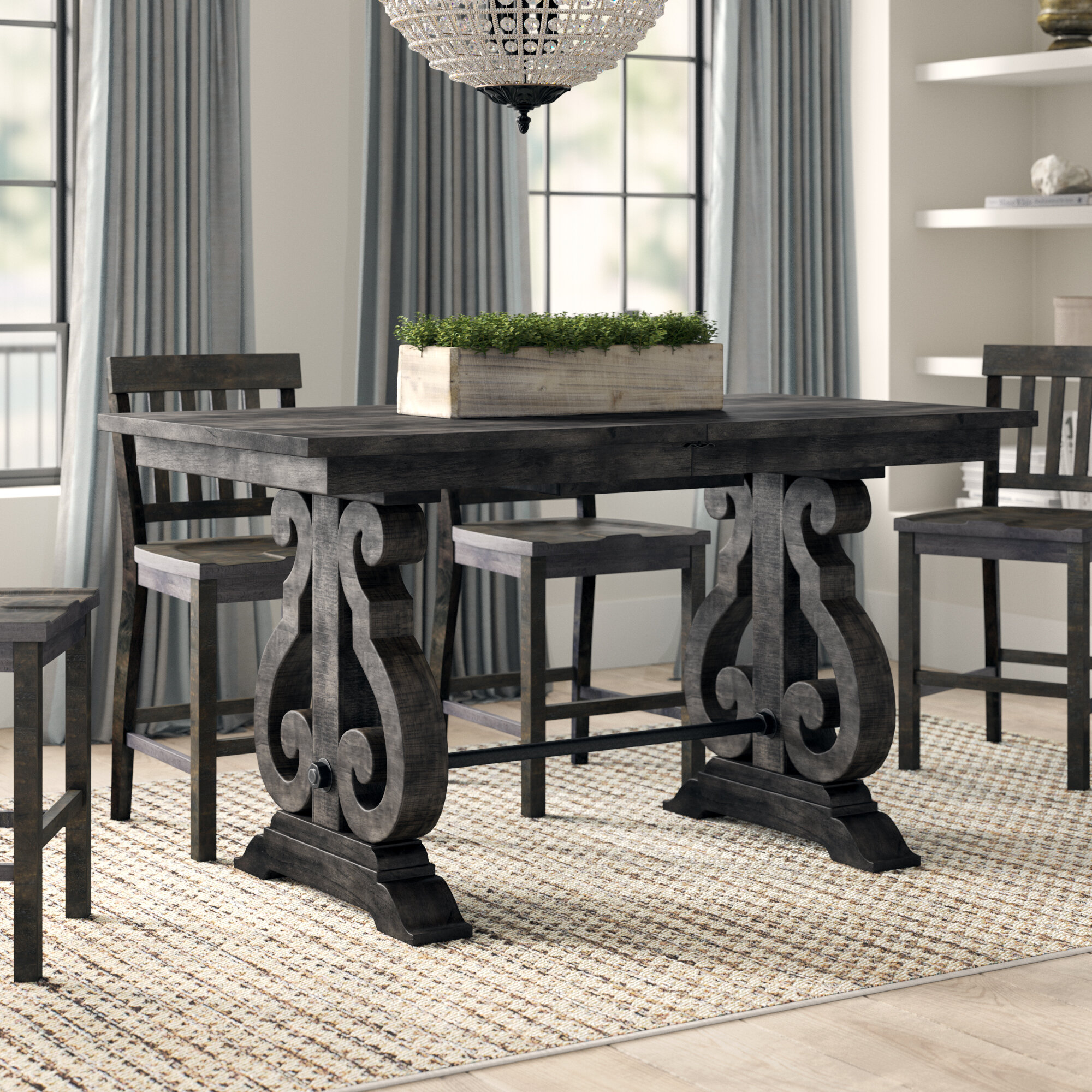 Ellenton Coffee Table With Storage: Greyleigh Ellenton Counter Height Extendable Solid Wood
