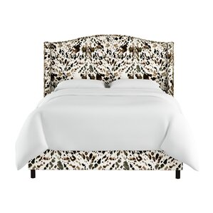Elisamarie Wingback Linen Upholstered Panel Bed by World Menagerie