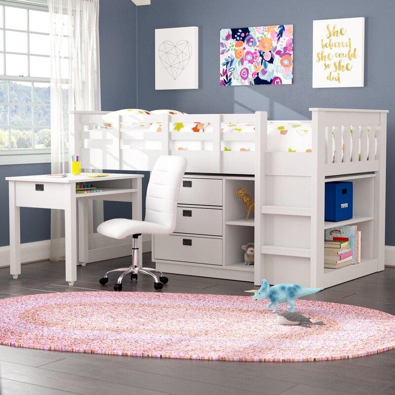 Deion Twin Low Loft Bed with Storage & Viv + Rae Deion Twin Low Loft Bed with Storage u0026 Reviews | Wayfair