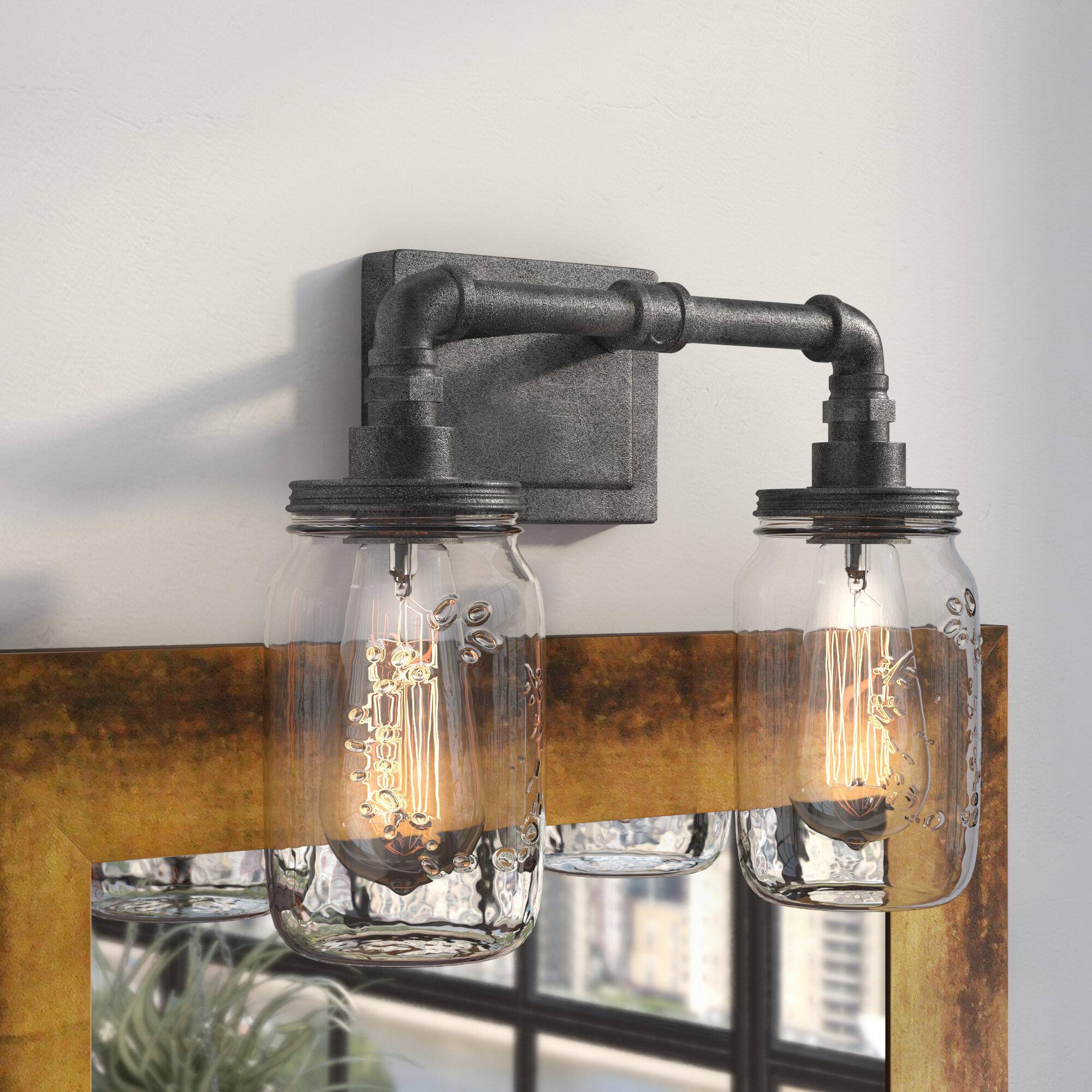 Trent austin design brys rustic black 2 light vanity light reviews wayfair