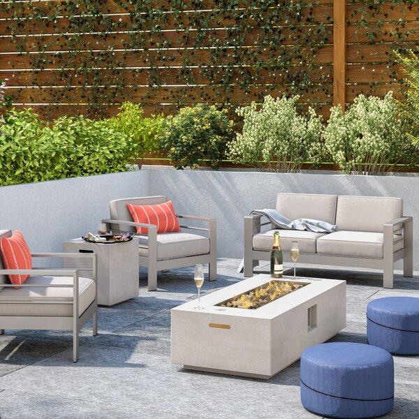 Wade Logan Durbin 5 Piece Sofa Set With Cushions & Reviews