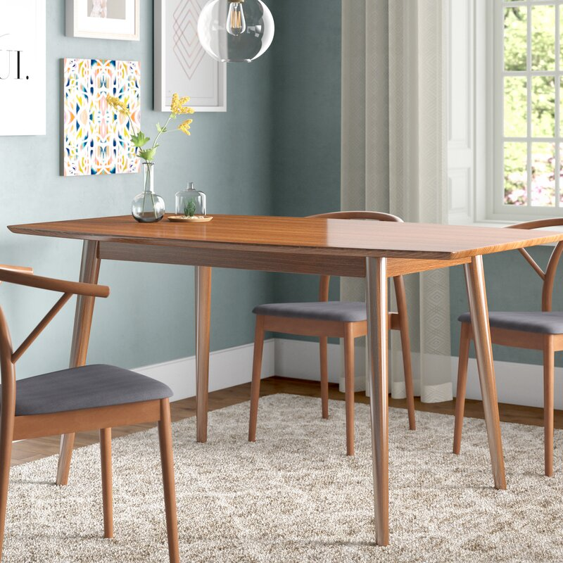 Corrigan Studio Weller MidCentury Dining Table Reviews Wayfair Custom Century Dining Room Tables