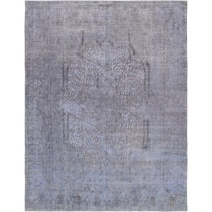 oneofakind vintage overdyes handknotted wool purplegray