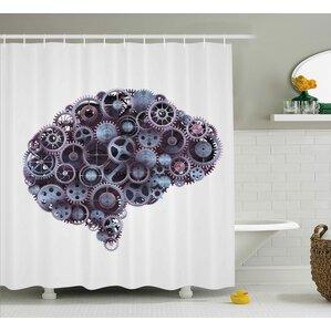 industrial decor shower curtain