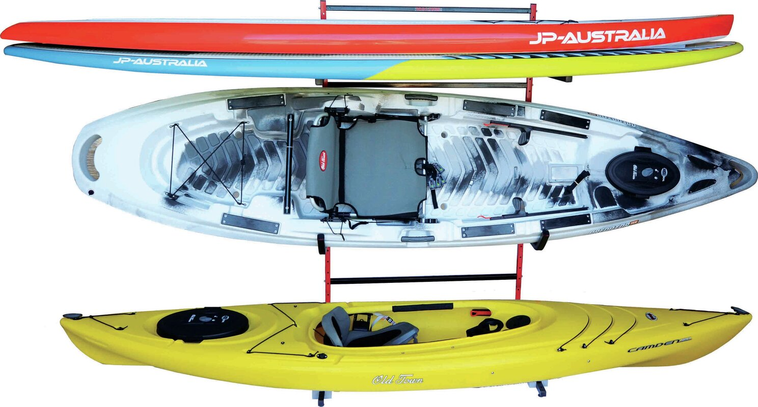Kayak And Stand Up Storage Freestanding Kayak Rack