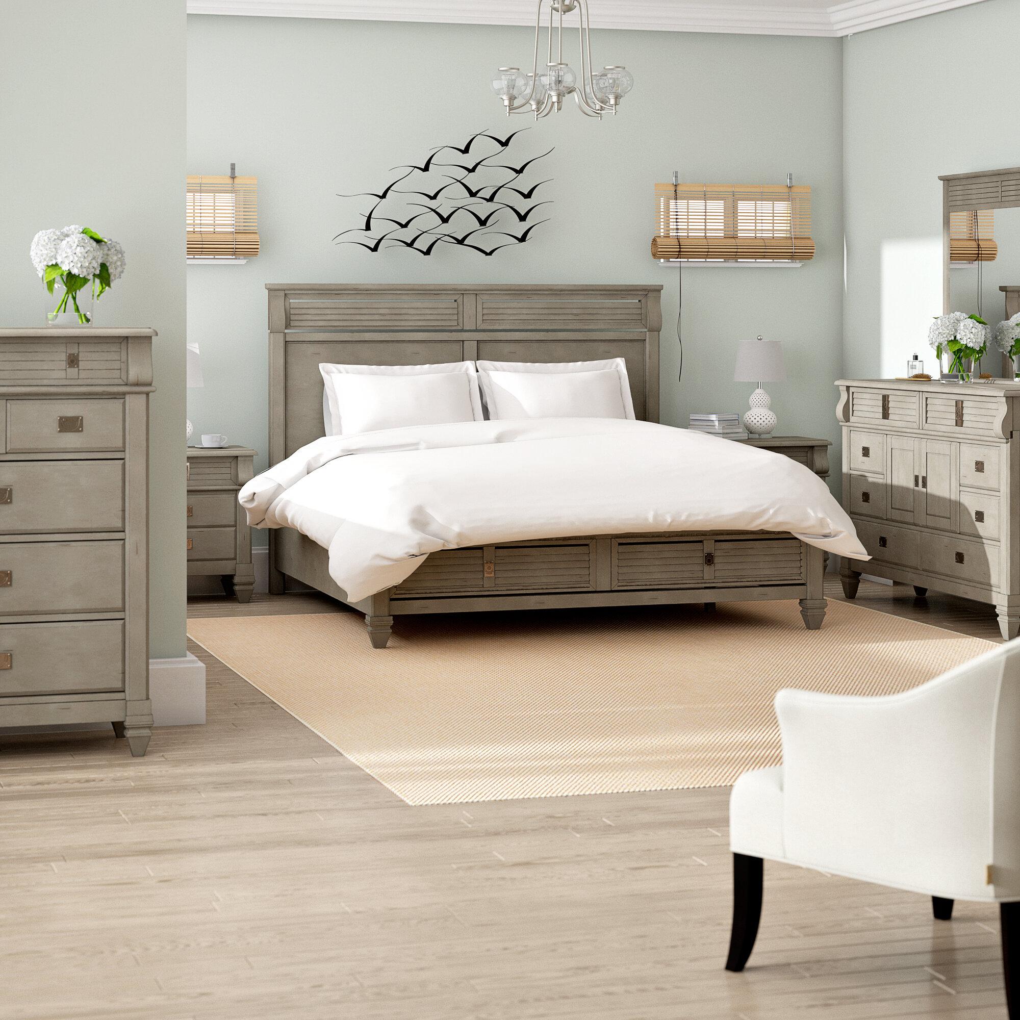 Beachcrest Home Vasilikos Solid Wood Construction Platform 6 Piece Bedroom Set Reviews Wayfair