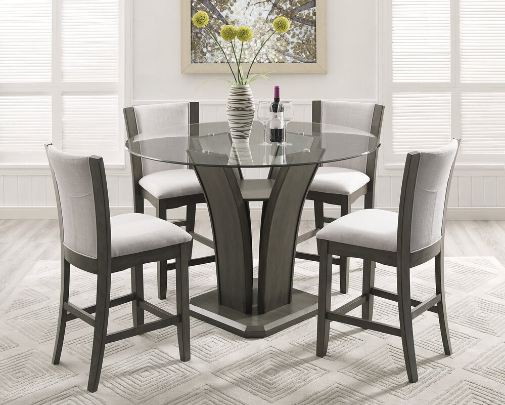 Take A Bite Out Of 24 Modern Dining Rooms: Brayden Studio Kangas 5-Piece Round Counter Height Dining