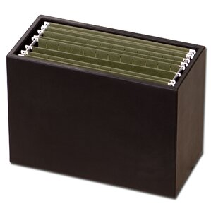 1000 Series Clic Leather Hanging File Folder Box In Black