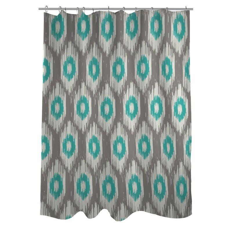 One Bella Casa Kelly Ikat Shower Curtain