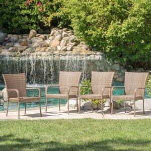 Kaelyn Outdoor Wicker Armchair (Set of 4)
