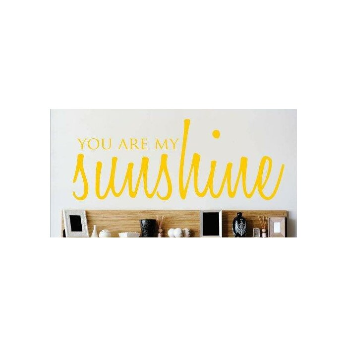 You Are My Sunshine Love Life Song Quote Wall Decal