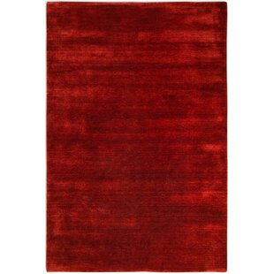 Chardon Hand Knotted Red Rug by Longweave
