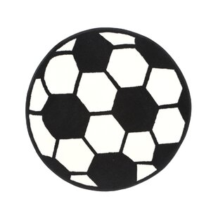 Fun Shape High Pile Soccerball Sports Area Rug