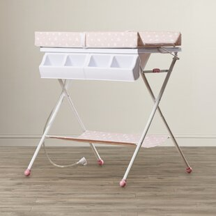 Folding changing table Build In Bathinette Foldable Bathtub And Changer Combo Wayfair Portable Changing Tables Youll Love Wayfair