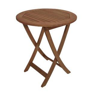 Parsley Folding Wooden Side Table By Lynton Garden