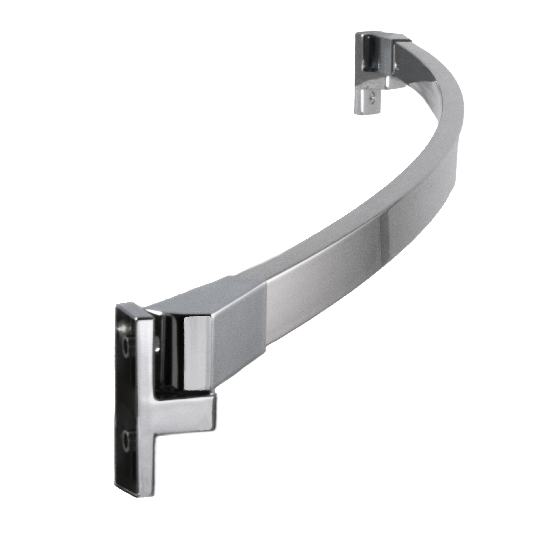 PreferredBathAccessories 62\'\' Adjustable Curved Shower Curtain Rod ...